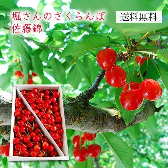 堀さんのさくらんぼ佐藤錦1kgバラ詰
