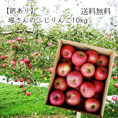 《訳あり》堀さんのふじりんご10kg<バラバラ詰>
