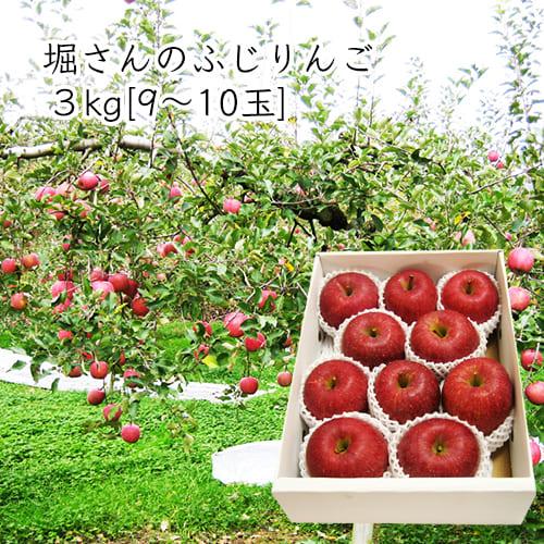 堀さんのふじりんご3kg[9~10玉前後]