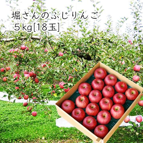 堀さんのふじりんご5kg[18玉]