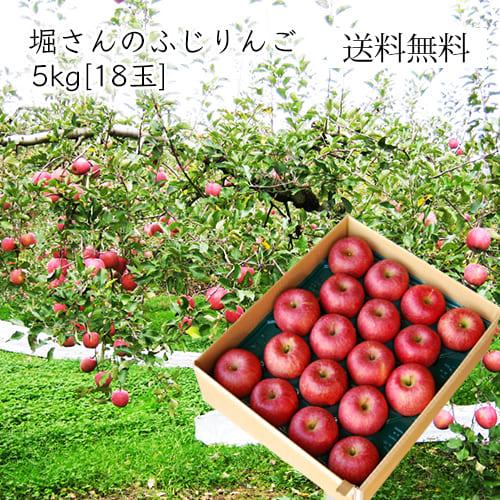 堀さんのふじりんご5kg(18玉)