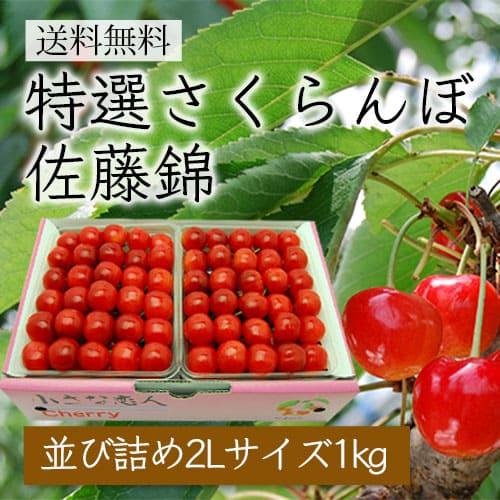 特選さくらんぼ佐藤錦[並び詰め1kg/2L]