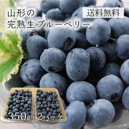 [送料無料]山形の完熟生ブルーベリー700g(350×2パック)[箱入]
