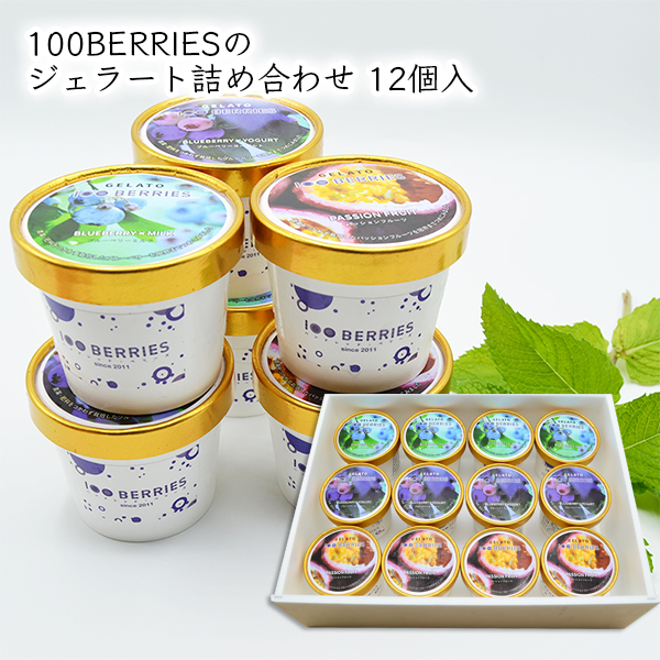 100BERRIESのジェラート詰め合せ12個入[箱入]