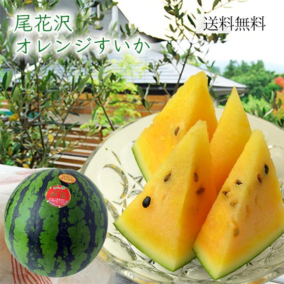 尾花沢オレンジすいか1玉(L~3Lサイズ)