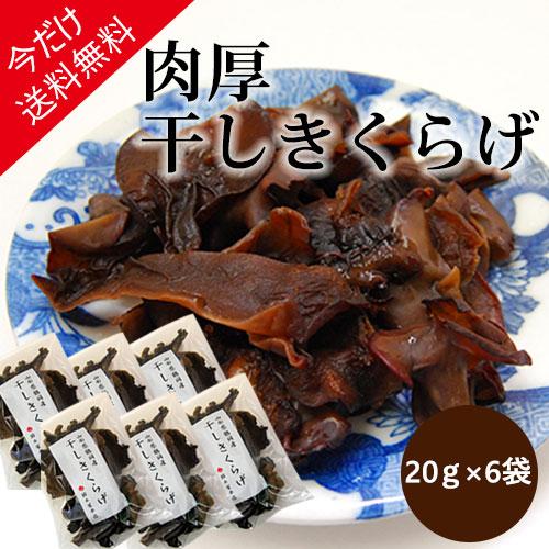 【今だけ送料無料】鈴木屋本店の肉厚干しきくらげ[20g×6袋]