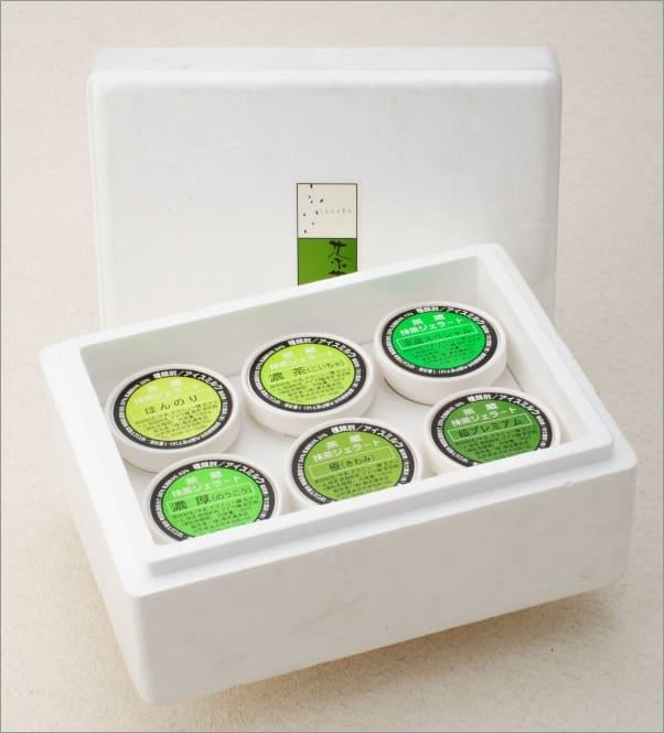お茶屋の抹茶ジェラート詰合せ6個入(6種類)[箱入]