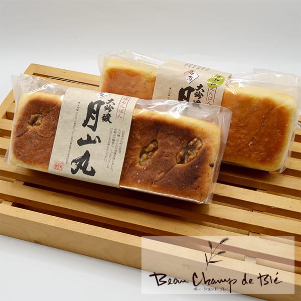 ボー・ションドブレの大吟醸月山丸酒種あんぱん4本セット(2種×2本入)[箱入]