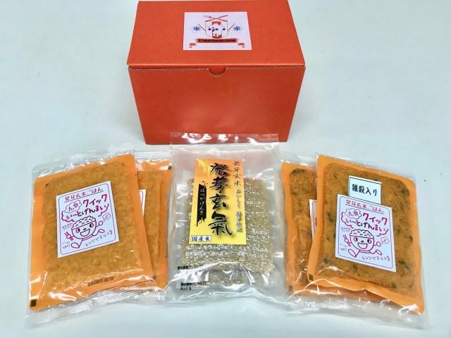 【送料無料】お試しセット発芽玄氣と電子レンジで簡単クイックいーとげんまい発芽玄米ご飯と雑穀入ご飯
