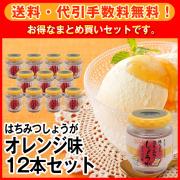 【送料・代引手数料無料】はちみつしょうが オレンジ味130g 12本セット