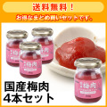 【送料無料】国産梅肉4本セット