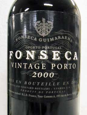 フォンセカ ヴィンテージ・ポート 2000 Fonseca