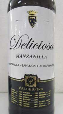 シェリー酒 バルデスピノ  マンサニージャ・デリシオーサ Valdespino