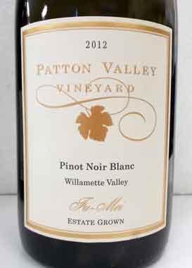 ピノ・ノワールの白ワイン パットンヴァレー ヒュメ ピノ・ノワール・ブラン オレゴン産白ワイン