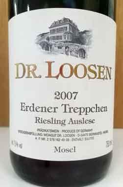 ドクトール・ローゼン エルデナー・トレプヒェン アウスレーゼ 2007 Loosen ドイツ産白ワイン