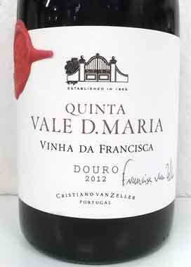 キンタ ヴァレ・ドナ・マリア ヴィニャ・ダ・フランシスカ ポルトガル産赤ワイン