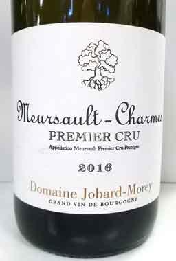 ジョバール・モレ ムルソー・プルミエ・クリュ シャルム 2016 フランス産白ワイン
