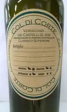 コル・ディ・コルテ ヴェルディッキオ・ディ・カステッリ・ディ・イエージ・クラッシコ・スーペリオーレ イタリア産白ワイン
