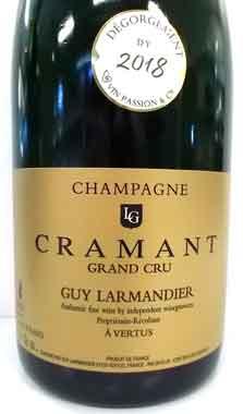 ギィ・ラルマンディエ グランクリュ・クラマン ブラン・ド・ブラン Guy Larmandier