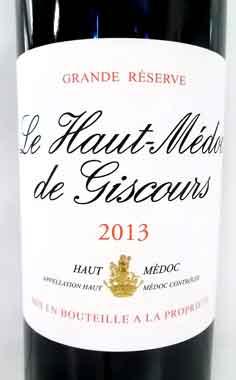 ル・オー・メドック・ド・ジスクール 2013 フランス産赤ワイン
