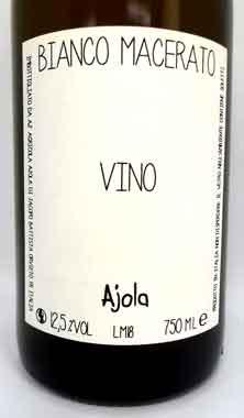 アヨラ ビアンコ・マチェラート イタリア産白ワイン SO2無添加 クール便