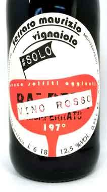 フェッラーロ・マウリッツォ ソロ・ヴィノ・ロッソ イタリア産赤ワイン SO2無添加クール便