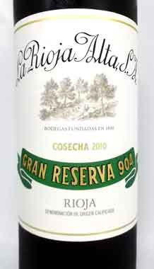 ラ・リオハ・アルタ グラン・レセルヴァ 904 2010 スペイン産赤ワイン La Rioja Alta