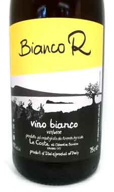 レ・コステ ビアンコ R 2016 Le Coste イタリア産白ワイン クール便