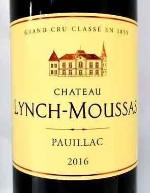 シャトー・ランシュ・ムーサ 2016 Chateau Lynch Moussas
