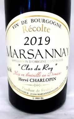 エルヴェ・シャルロパン マルサネ クロ・デュ・ロワ 2019 ブルゴ―ニュ産赤ワイン