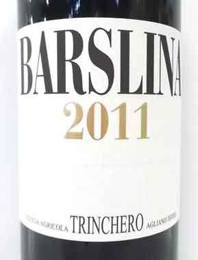 トリンケロ バルスリーナ 2011 Trinchero イタリア産赤ワイン