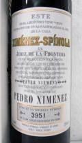シェリー酒・甘口 ヒメネス・スピノラ ペドロ・ヒメネス  Ximenez-Spinola