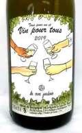 レ・ヴァン・ジャルダン トゥス・プル・アン・エ・ヴァン・プル・トゥス フランス産白ワイン