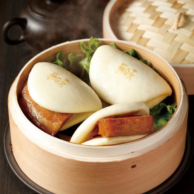 豚角煮饅頭