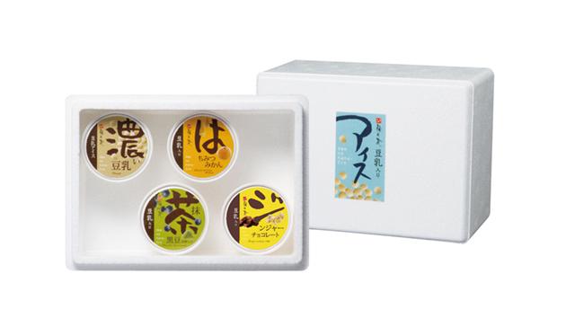 豆乳入りアイスおためしセット(4個入) (商品番号:100940)