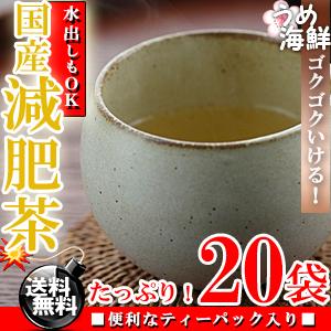 厳選!8種類ブレンド♪国産 減肥茶 ティーバッグ 20袋 水出し もできます【送料無料】【げんぴ茶】【健康茶】※代金引換不可