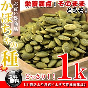 かぼちゃの種 1kg(500g×2個) 無塩 無油 ロースト 送料無料