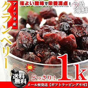 クランベリー 1kg(500g×2個入り) ドライフルーツ 送料無料