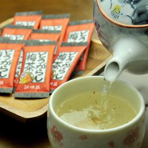 ピリ辛で酸っぱ~い! とうがらし梅茶 24パック×2個入り[送料無料][唐辛子梅茶]