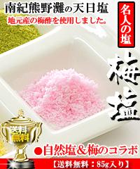 梅塩「天日塩」85g入り(送料無料)