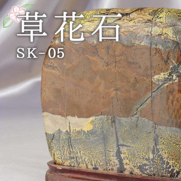 【ピクチャーストーン】草花石SK-05(観賞用鉱石)