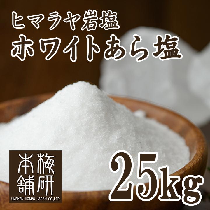 【食用】ヒマラヤ岩塩ホワイト(あら塩) 25kg 【ホワイトソルト】【送料無料】