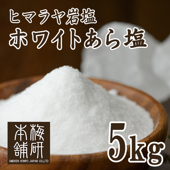 【食用】ヒマラヤ岩塩 ホワイト あら塩 5kg 【ホワイトソルト】