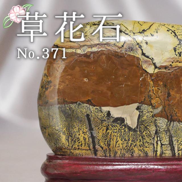 【ピクチャーストーン】草花石No.371(観賞用鉱石)