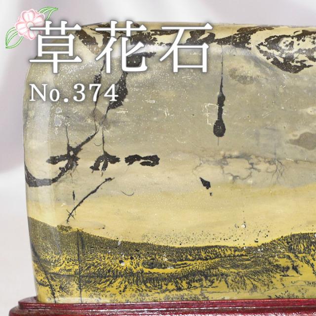 【ピクチャーストーン】草花石No.374(観賞用鉱石)