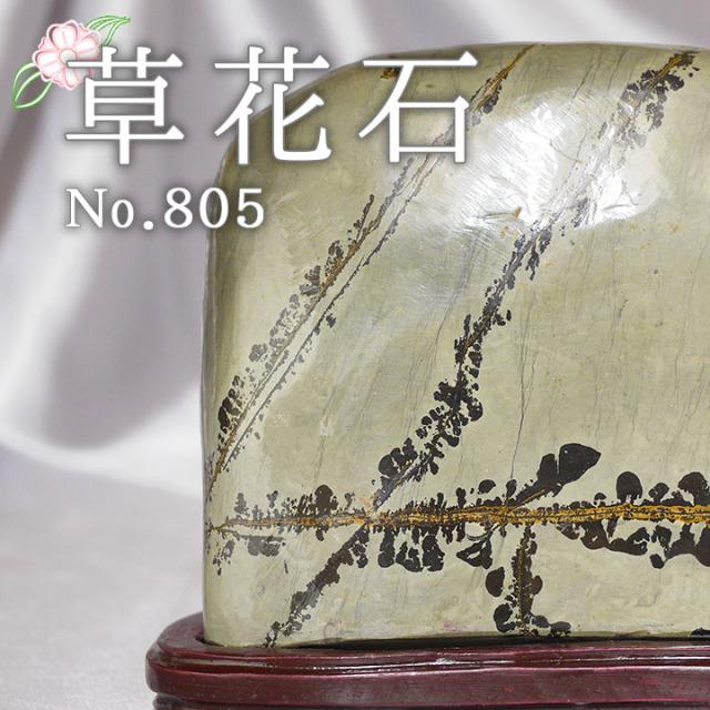 【ピクチャーストーン】草花石No.805(観賞用鉱石)