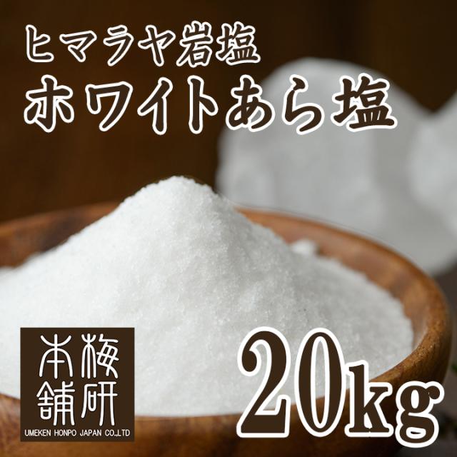 【ポイント10倍】【食用】 ヒマラヤ岩塩 ホワイト あら塩 20kg
