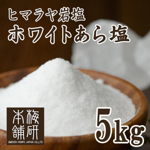 【ポイント10倍】【食用】 ヒマラヤ岩塩 ホワイト あら塩 5kg