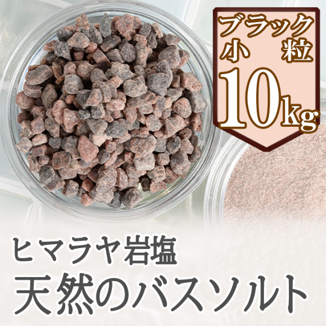 【ポイント10倍】【バスソルト】 ヒマラヤ岩塩 ブラック 小粒 10kg
