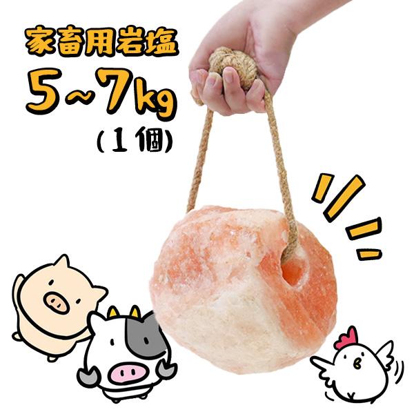 家畜用ヒマラヤ岩塩5~7kg【牛・馬・羊】【動物】